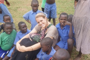 kristine with kids